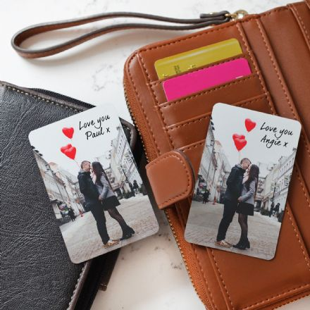 Personalised Wallet Metal Photo Cards Set Of Two